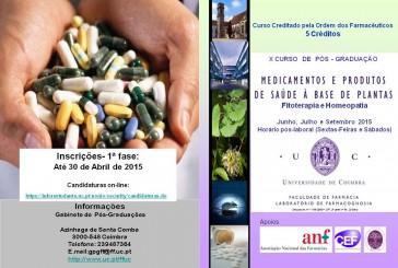 """Pós-Graduação em """"Medicamentos e Produtos de Saúde à Base de Plantas"""""""
