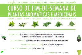 1º Curso de Fim-de-semana de Plantas Aromáticas e Medicinais (Monsaraz e Mourão)