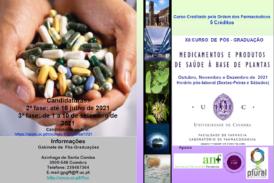 Candidaturas abertas para Pós-Graduação em Medicamentos e Produtos de Saúde à Base de Plantas